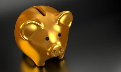 金の豚の貯金箱