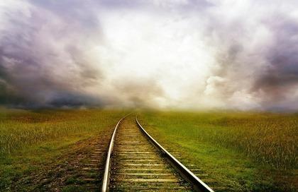 長い線路道