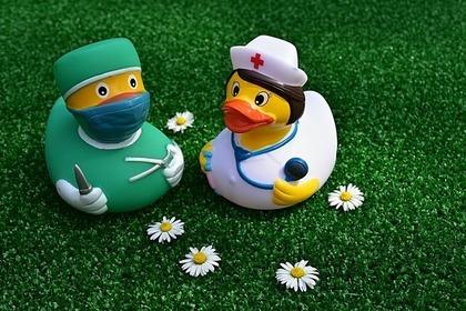 アヒルの医者と看護師