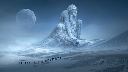 雪山の風景