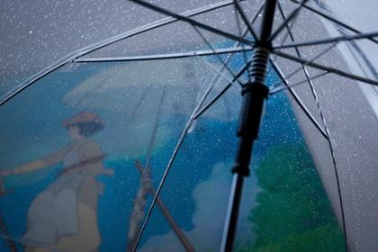 傘と梅雨空