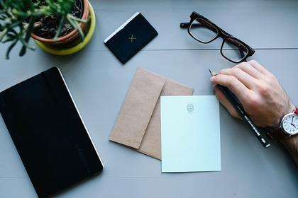 手紙と眼鏡