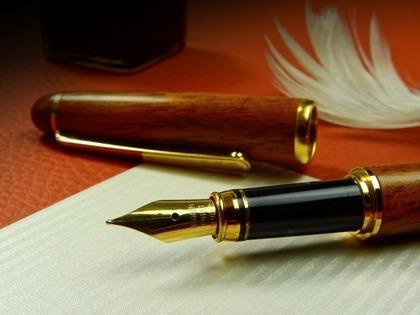 羽と万年筆