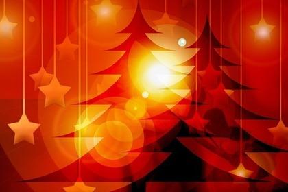 クリスマスツリーと星の飾り
