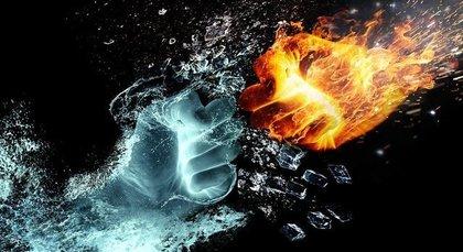 炎と水の拳
