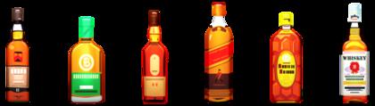 数種類のお酒