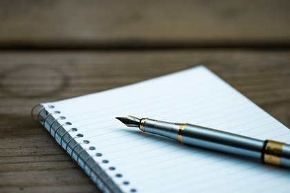 白紙のノート