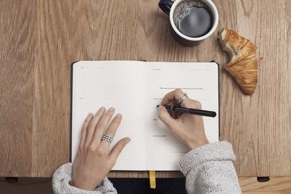 ノートに書き物
