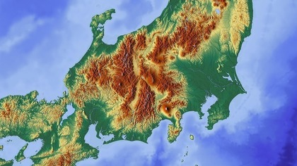 広い日本地図