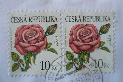 バラの綺麗な切手