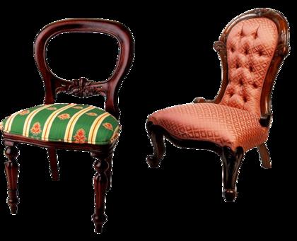おしゃれな2脚の椅子