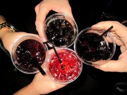 ジュースで乾杯