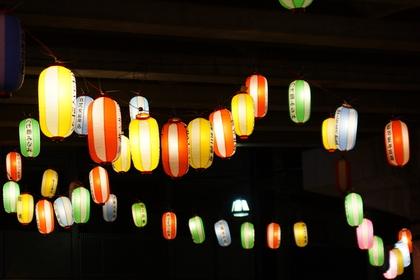 お祭りの提灯