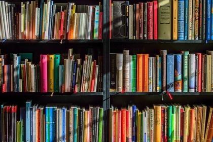 本棚に並んだたくさんの本