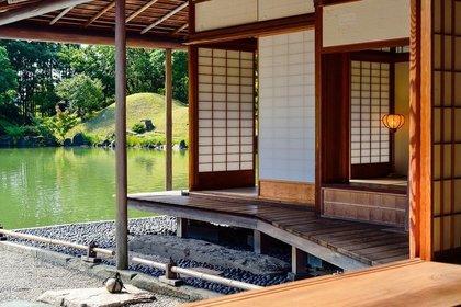 日本家屋の庭
