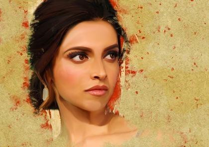壁に描かれた綺麗なインド人女性
