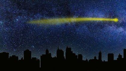 輝く流れ星