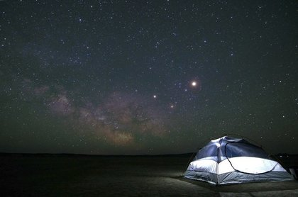 一番明るい星が浮かぶ空