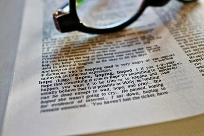 辞書のページ