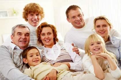 穏やかな家族