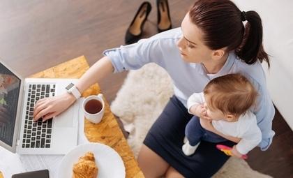 育児と仕事の様子