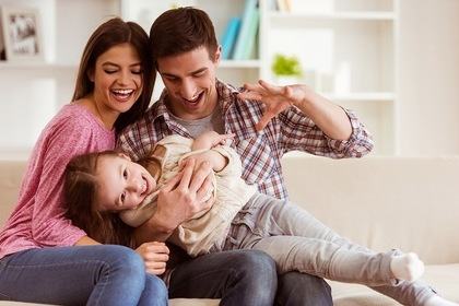 家族で楽しむ様子