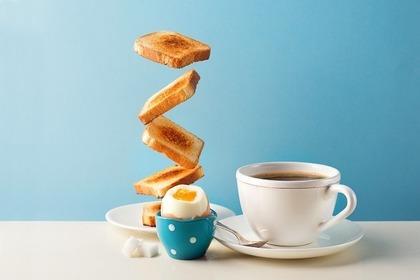 朝食とコーヒー