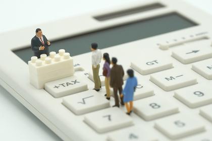 税金計算ボタンがピックアップされた電卓