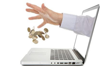 パソコンから金銭