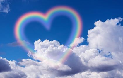 幸せのハートの虹