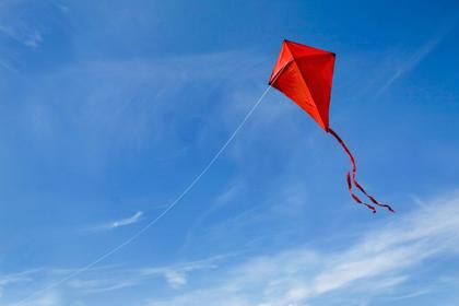 自由に空を飛ぶカイト