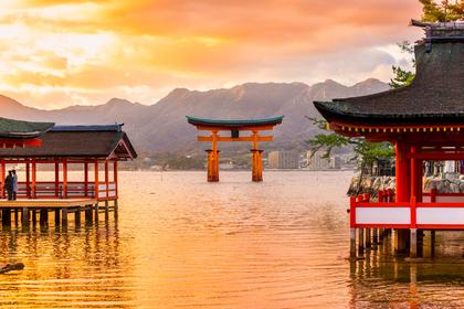 夕日の風景