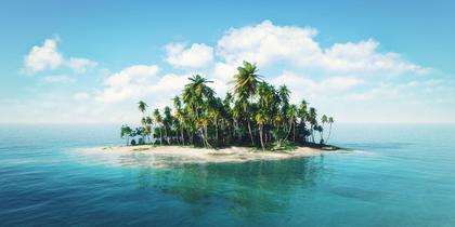美しい無人島