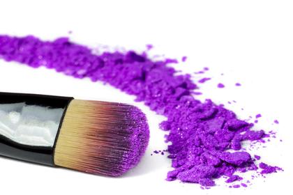 紫色のパウダー
