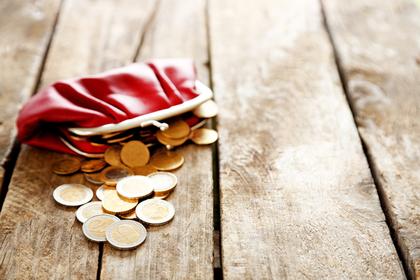 財布から出る小銭