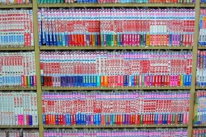 たくさんの漫画本