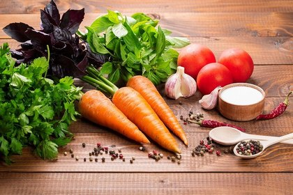 野菜と胡椒