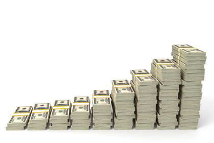平均貯金額と年収グラフ