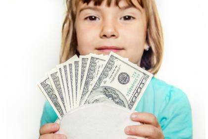 お金を自慢する