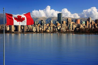 カナダ国旗の風景