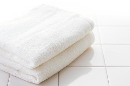 真っ白なタオル